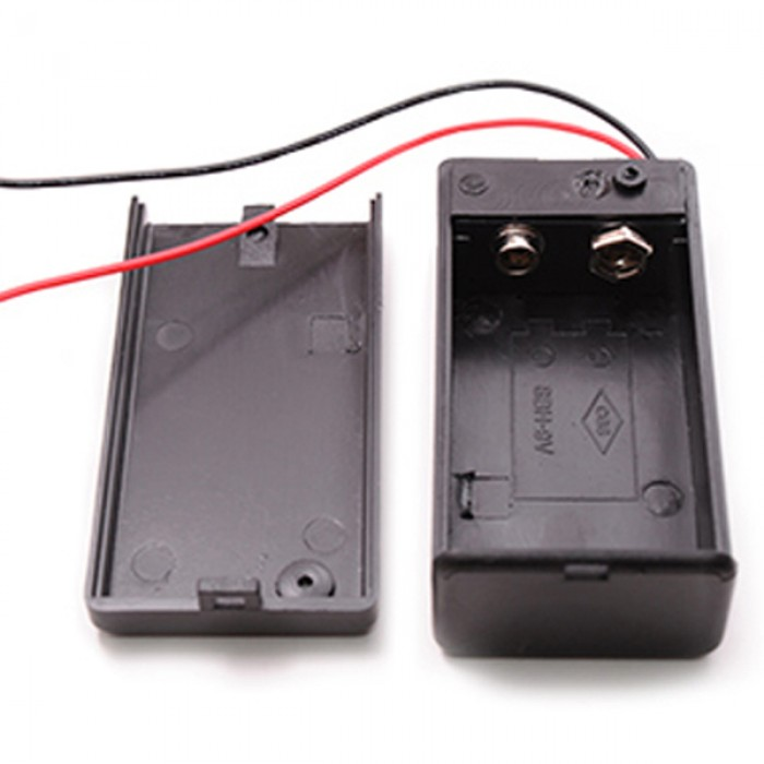 Battery holder with switch 9 volts