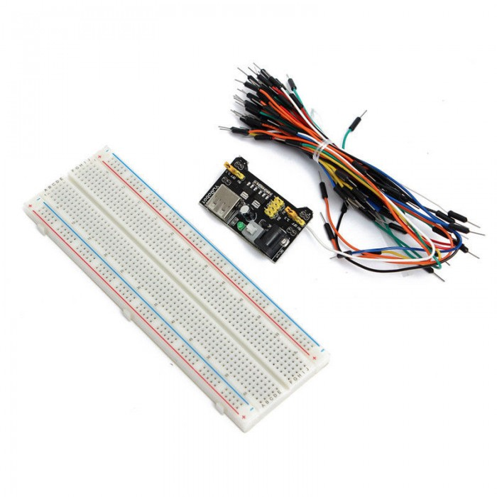 Breadboard+power module+65 Flexible jumper wires
