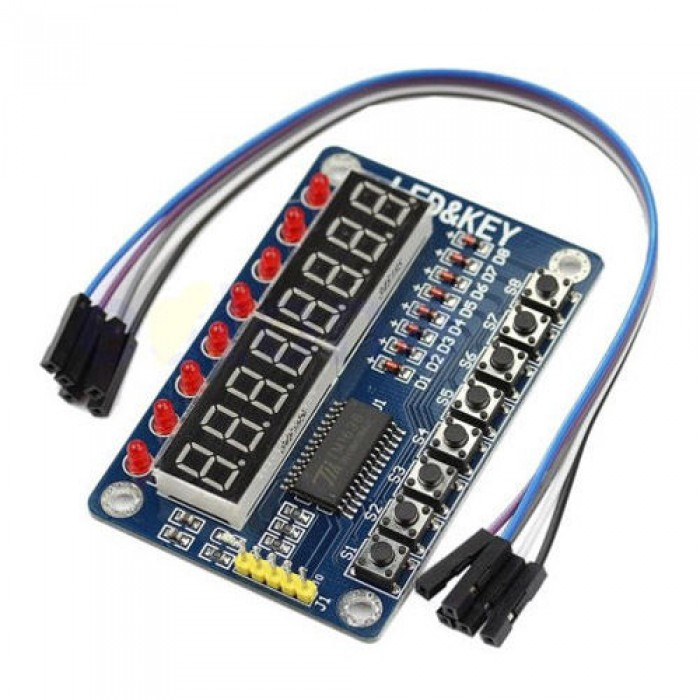 8-Bit Digital LED Tube 8-Bit TM1638 Key Display Module