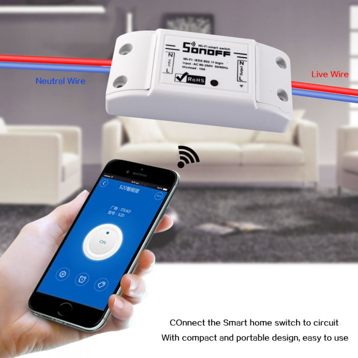 Sonoff DIY Smart Home WiFi/Wireless Switch for Apple & Android Application