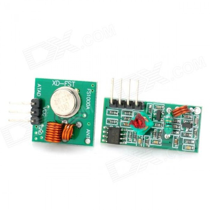 RF Wireless Transmitter & Receiver Kit Module 433Mhz for Raspberry Pi/Arduino