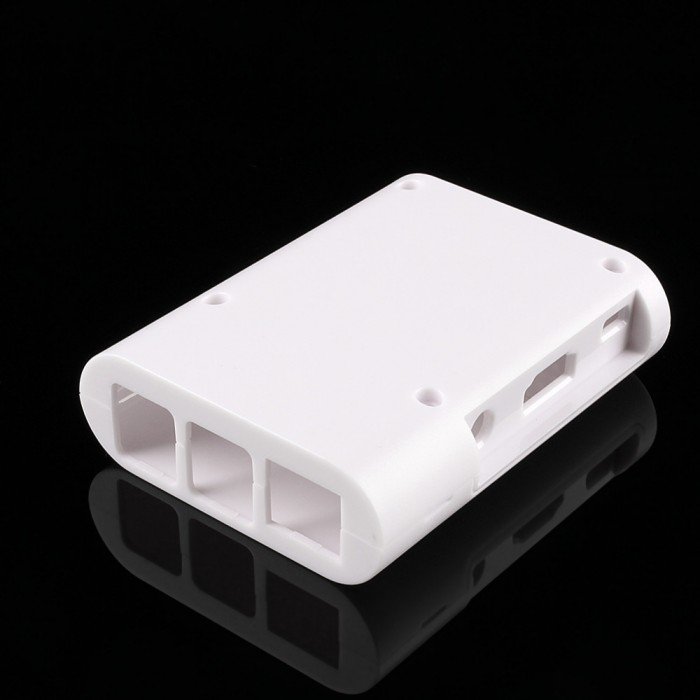 Case Raspberry Pi Cover Shell 2 piece WHITE ABS  with Fastening Screws