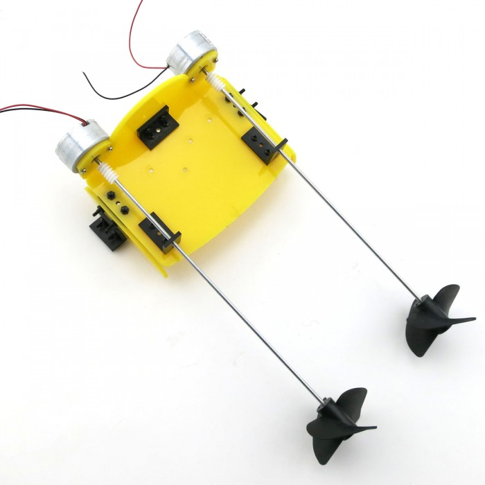 Kit electric two motor propeller power driven for Remote Control Boat
