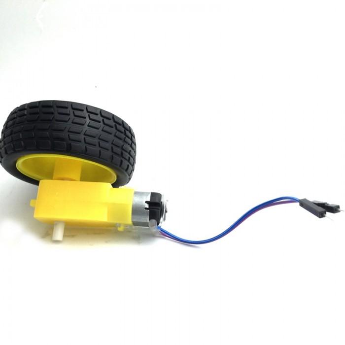 Car Gear DC Motor Robot Gear Motor TT & Wheel Tire