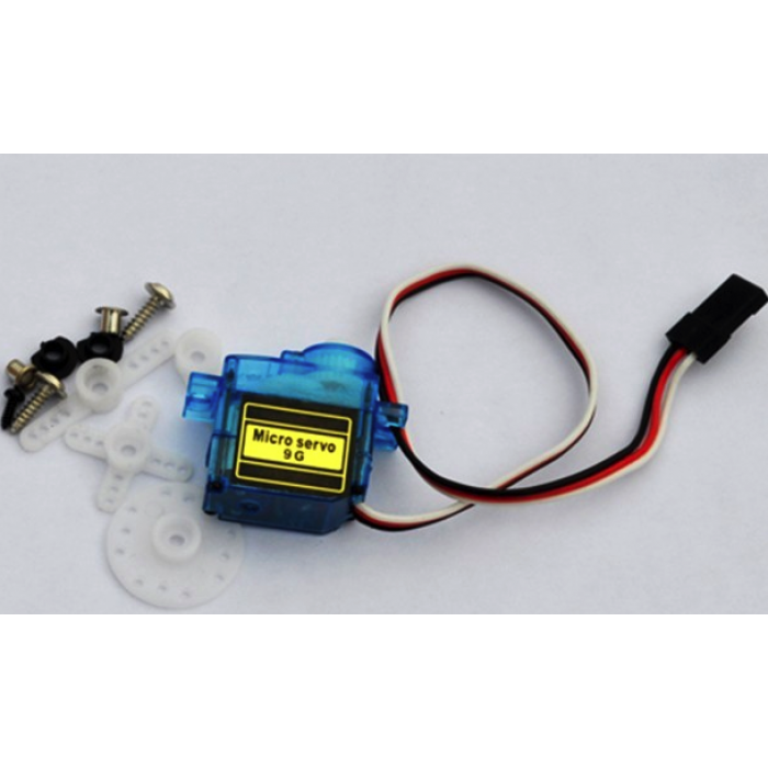 Mini servo 9g micro steering gear with servo gear, horns and fittings