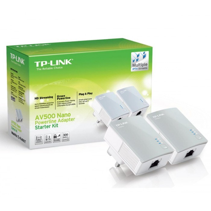 AV500 Powerline Network Adapter Kit - 10/100Mbps - TP-LINK TL-PA411KIT