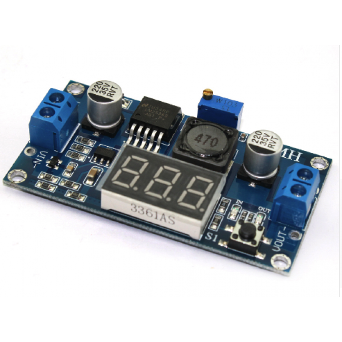 DC Step Down Module LM2596 DC-DC 4.0~40V to 1.25-37V Adjustable With LED Voltmeter DC-DC 2A Short Circuit