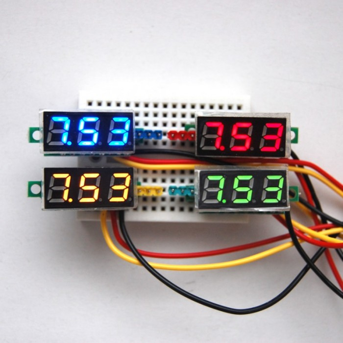 Mini DC VoltMeter 0.28 INCH RED LED