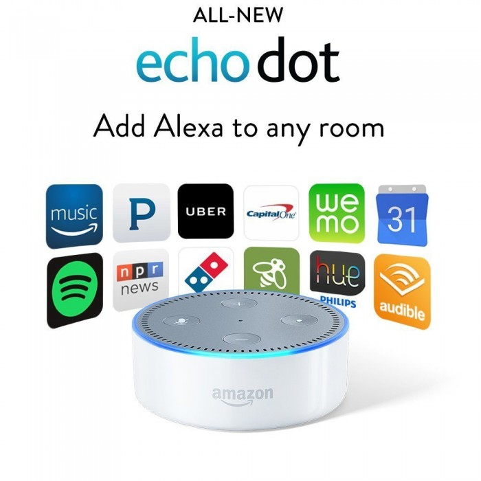 Amazon Alexa Echo Dot 2nd Gen White
