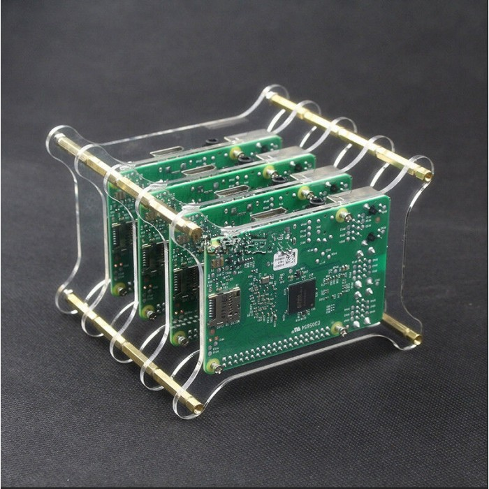 Cluster Case Housing 5 Layers Shelf Stack for Raspberry Pi