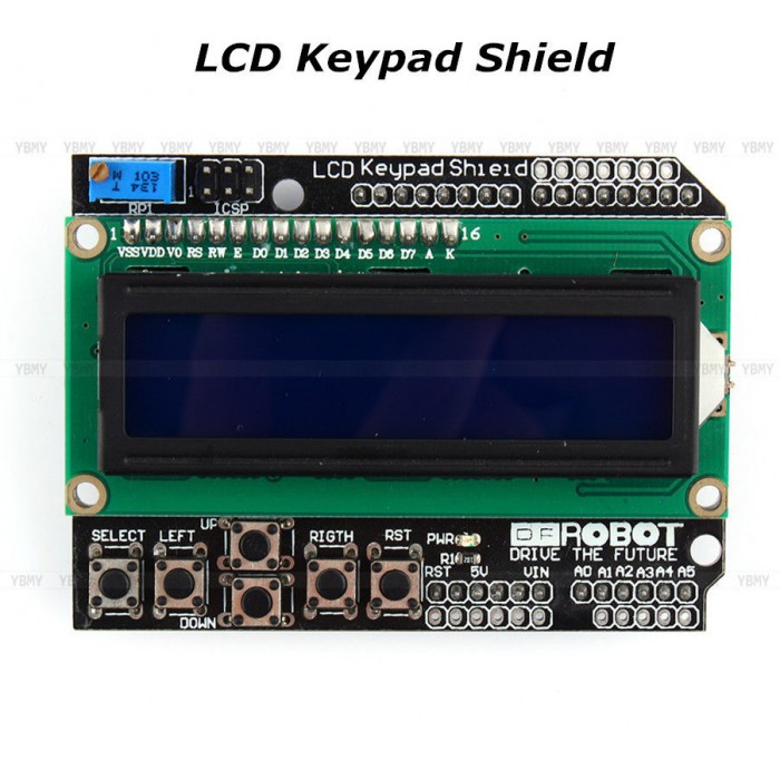 LCD Keypad Shield for Raspberry Pi, Arduino with LCD 16x02