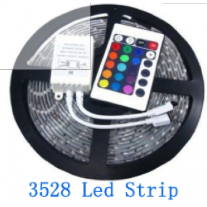 Led 5m roll rgb flexible led light strip waterproof 300 24 key ir led 5m roll rgb flexible led light strip waterproof 300 24 key ir remote led ribbon control box aloadofball Gallery