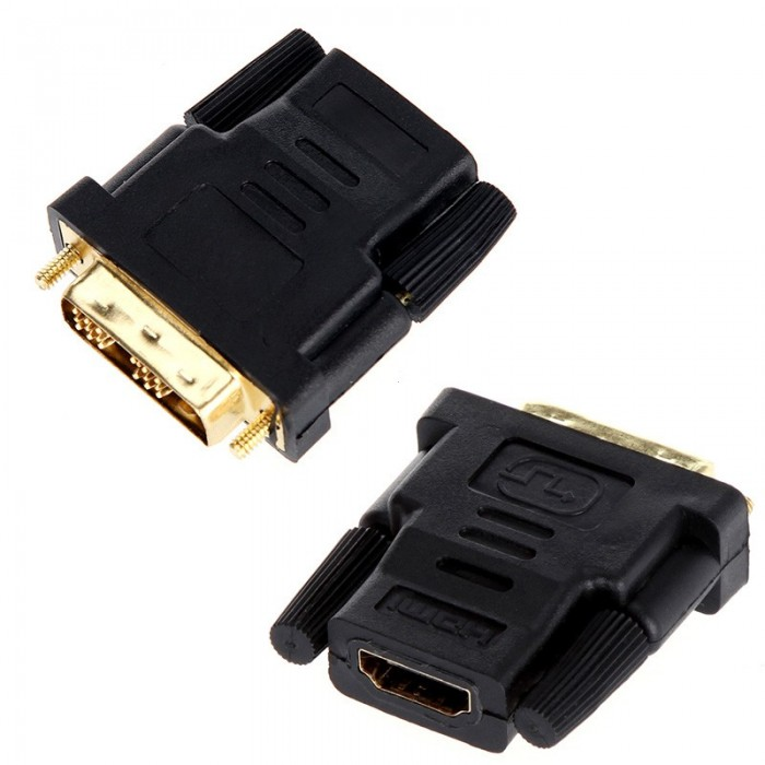 DVI Male To HDMI Female Gold Plated Adapter