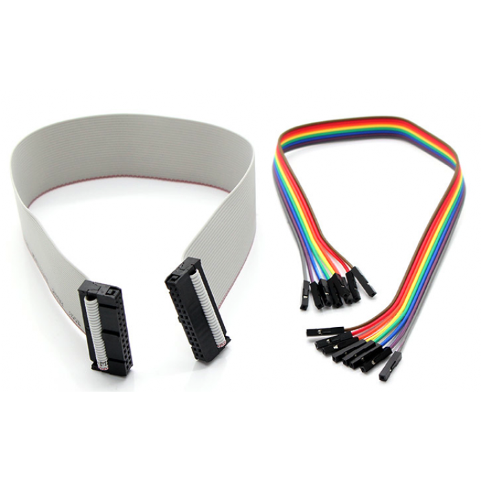 40-Pin GPIO Ribbon Cable + Female Jumper Wires for Raspberry Pi 2 ModB