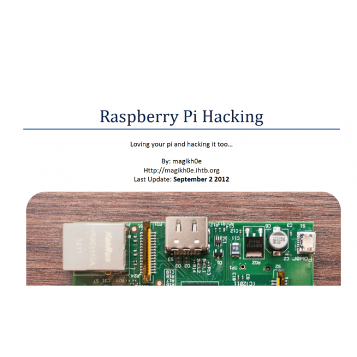 FREE - E Book Raspberry Pi Hacking